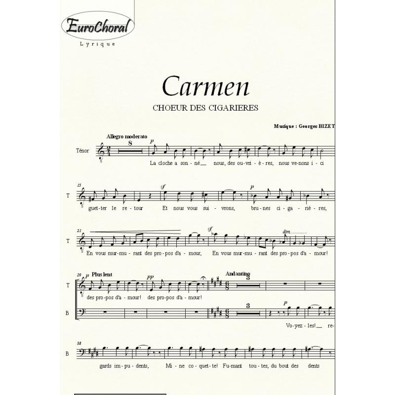 CHOEUR DES CIGARIERES (Carmen) (Choeur)
