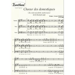 CHOEUR DES DOMESTIQUES (Don Pasquale) (Choeur)