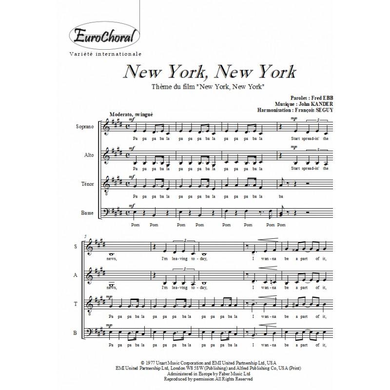 NEW YORK NEW YORK (B.O du film)