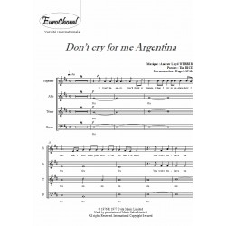 DON'T CRY FOR ME ARGENTINA (choeur)