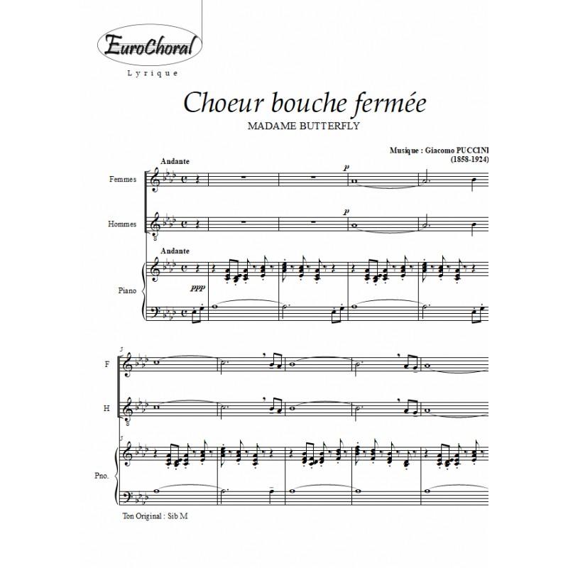 CHOEUR BOUCHE FERMEE (Mme Butterfly)