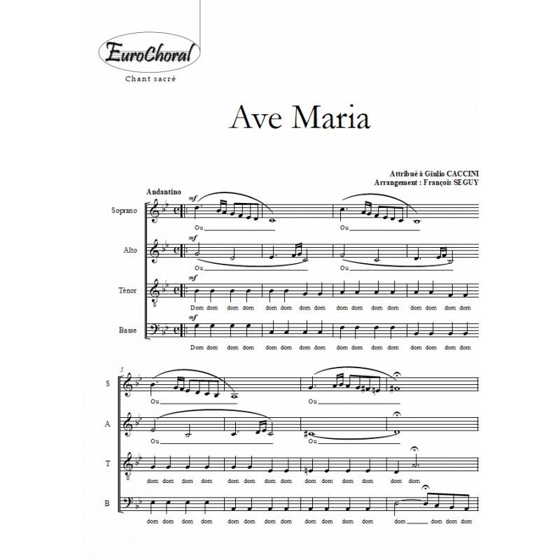 """AVE MARIA  dit """"de Caccini"""""""