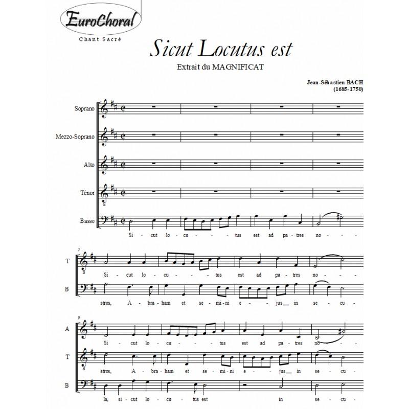 SICUT LOCUTUS EST (Magnificat)