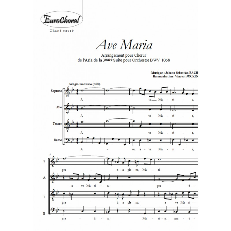 AVE MARIA (arrangement sur l\'Aria de Bach)
