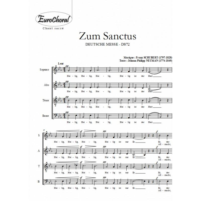 ZUM SANCTUS (extrait de Deutsche messe D 872)