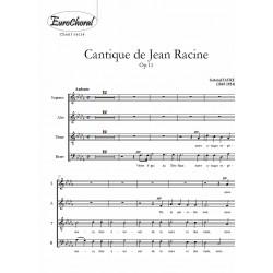 CANTIQUE DE JEAN RACINE Op.11 (Choeur)