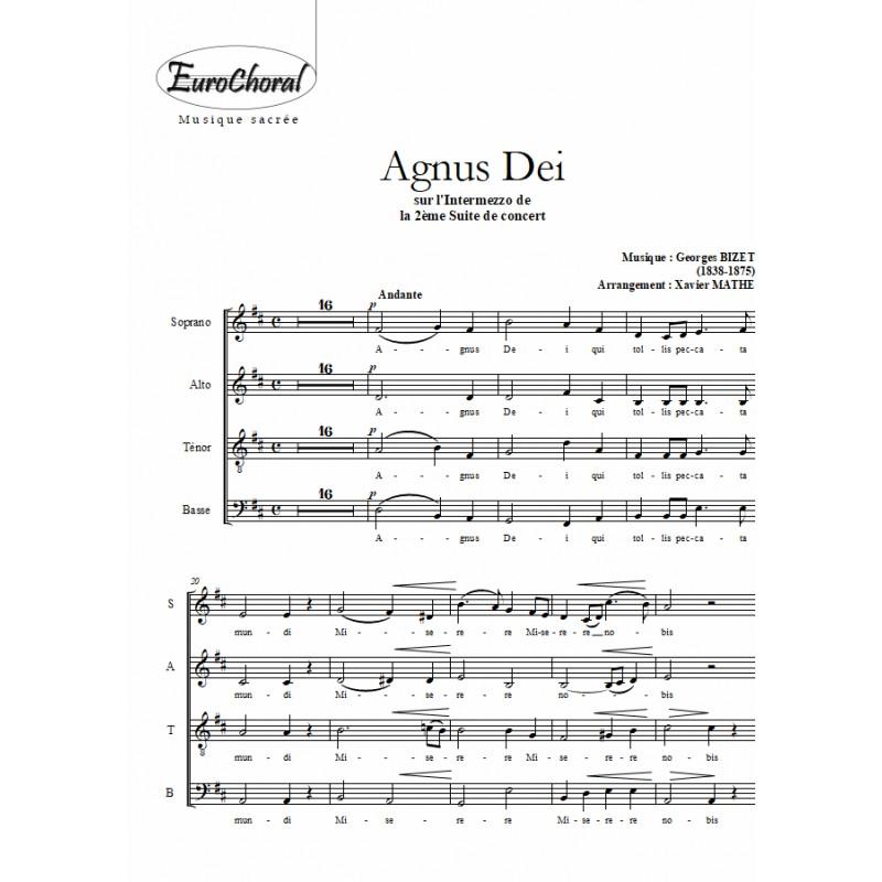 AGNUS DEI (Intermezzo de l\'Arlesienne) (Choeur)