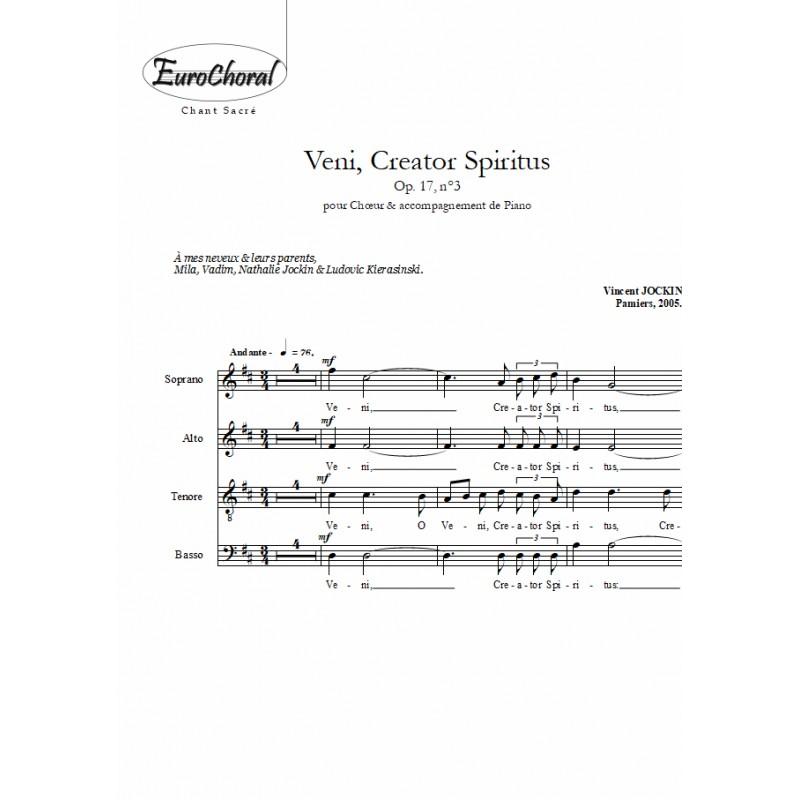 VENI CREATOR SPIRITUS Op.17, n°3 (Choeur)