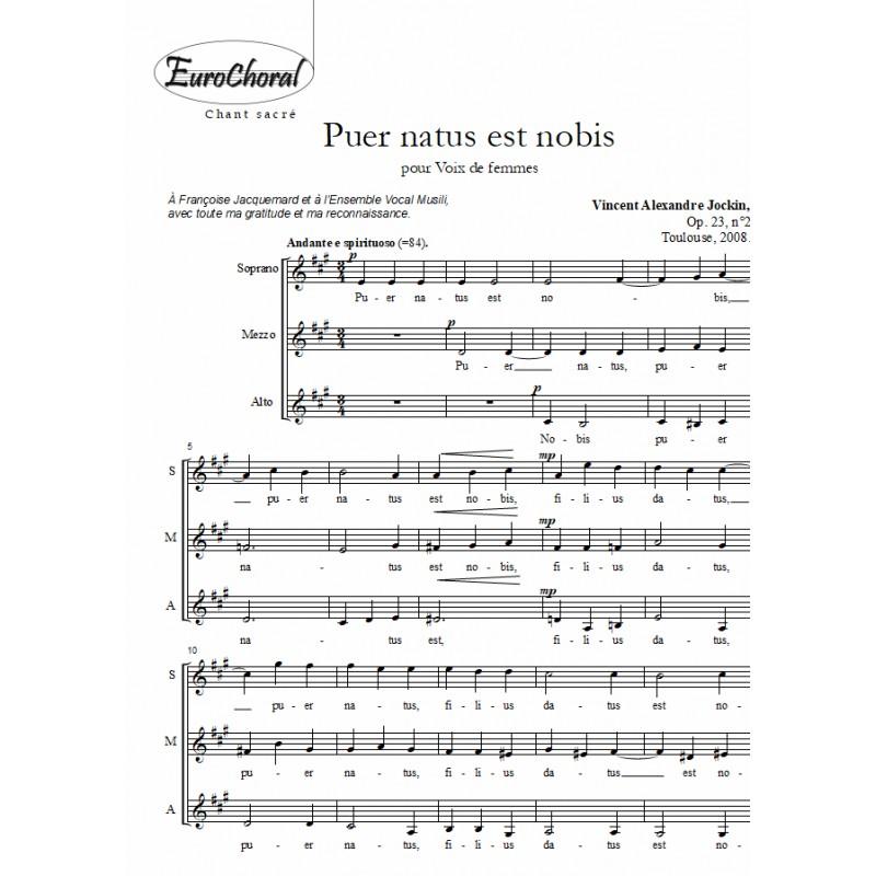 PUER NATUS EST Op.23 N°2