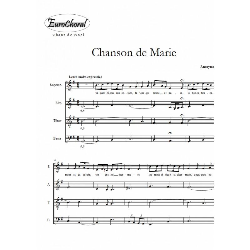 CHANSON DE MARIE