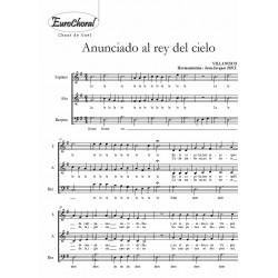 ANUNCIADO AL REY DEL CIELO