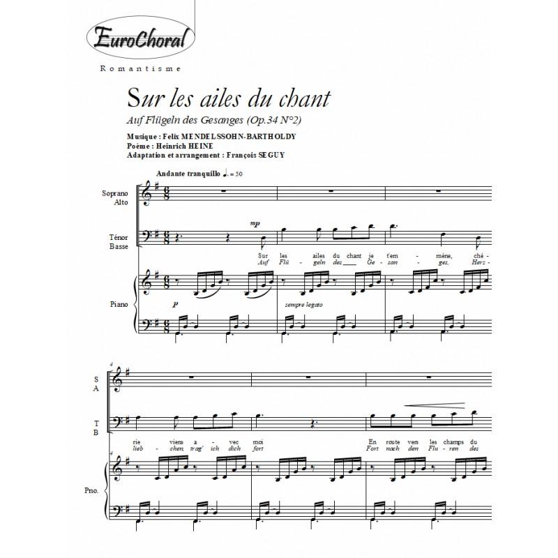 SUR LES AILES DU CHANT (Auf Flügeln des Gesanges) Op.34 N°2)