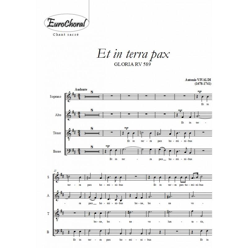 ET IN TERRA PAX (Gloria RV 589)