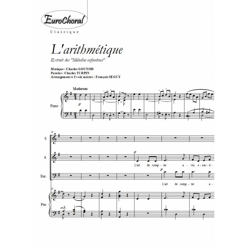 ARITHMETIQUE (L') (Gounod)