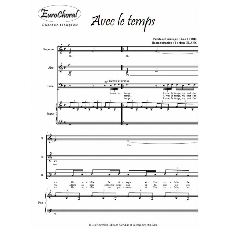 AVEC LE TEMPS (L.Ferré)