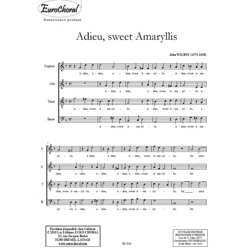 ADIEU SWEET AMARYLLIS