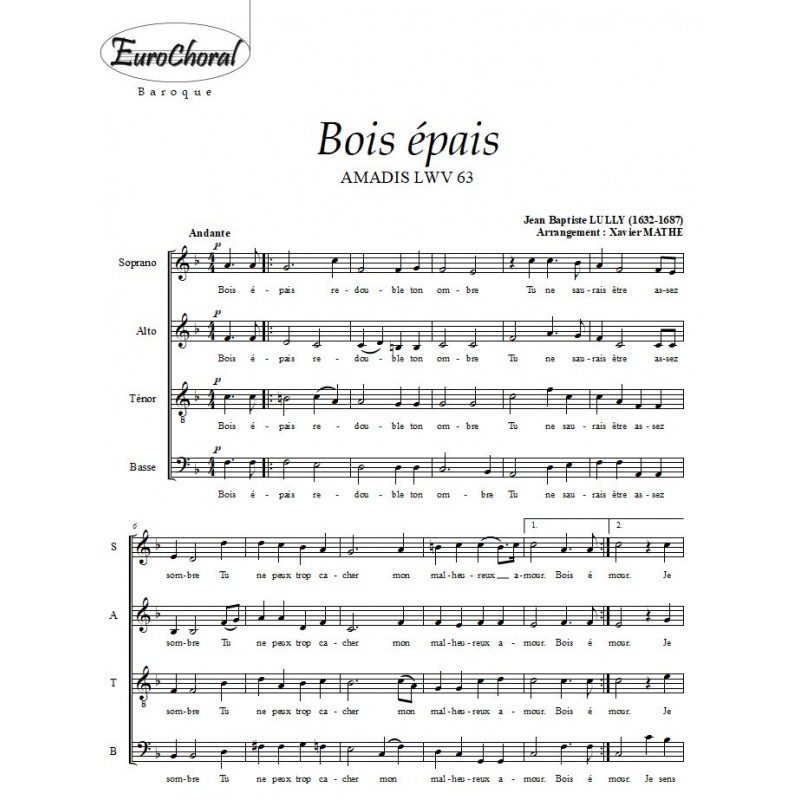 BOIS EPAIS (J.B Lully)