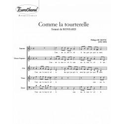 COMME LA TOURTERELLE (De Monte)