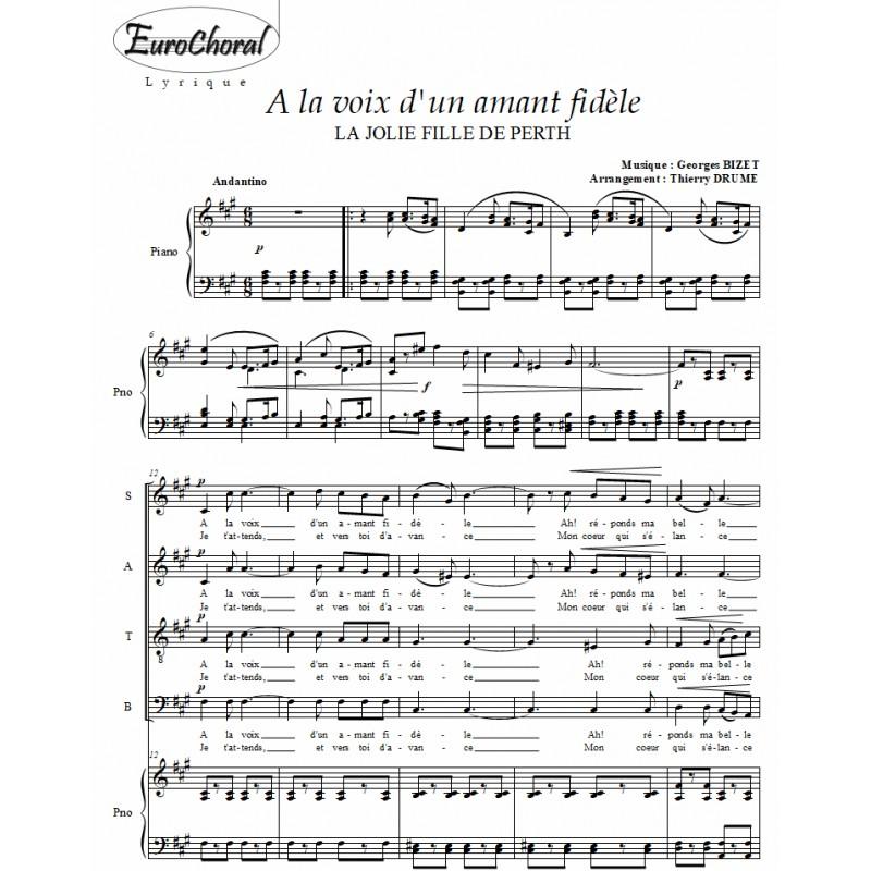 A LA VOIX D'UN AMANT FIDÈLE (Bizet)