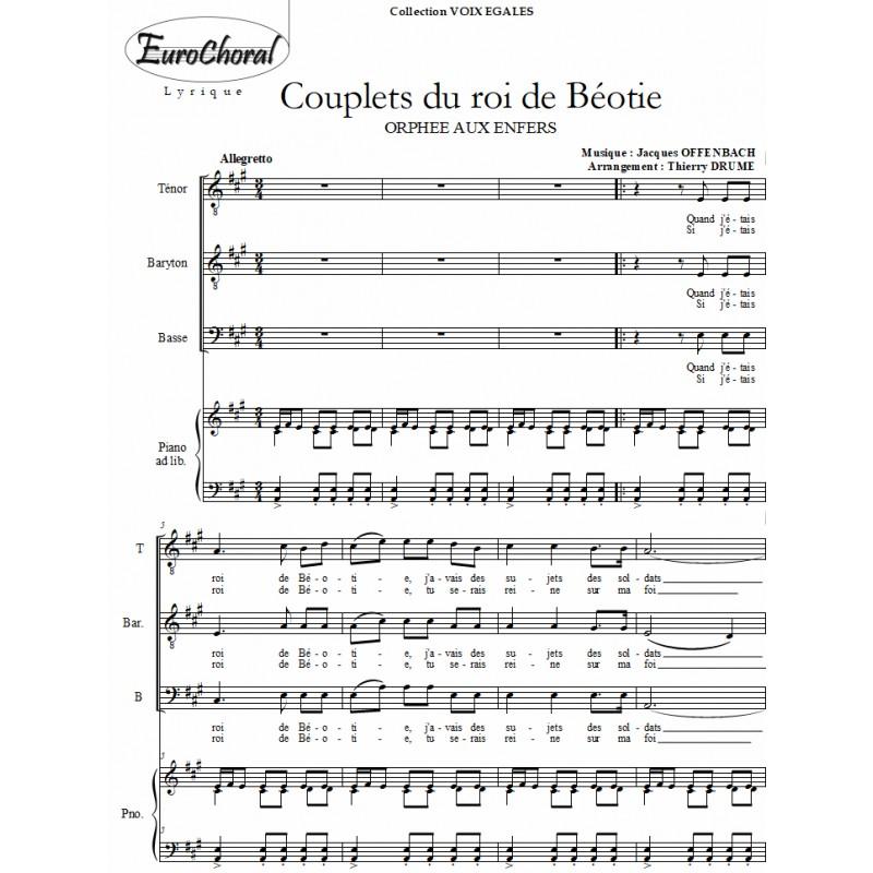 COUPLETS DU ROI DE BEOTIE (Offenbach)