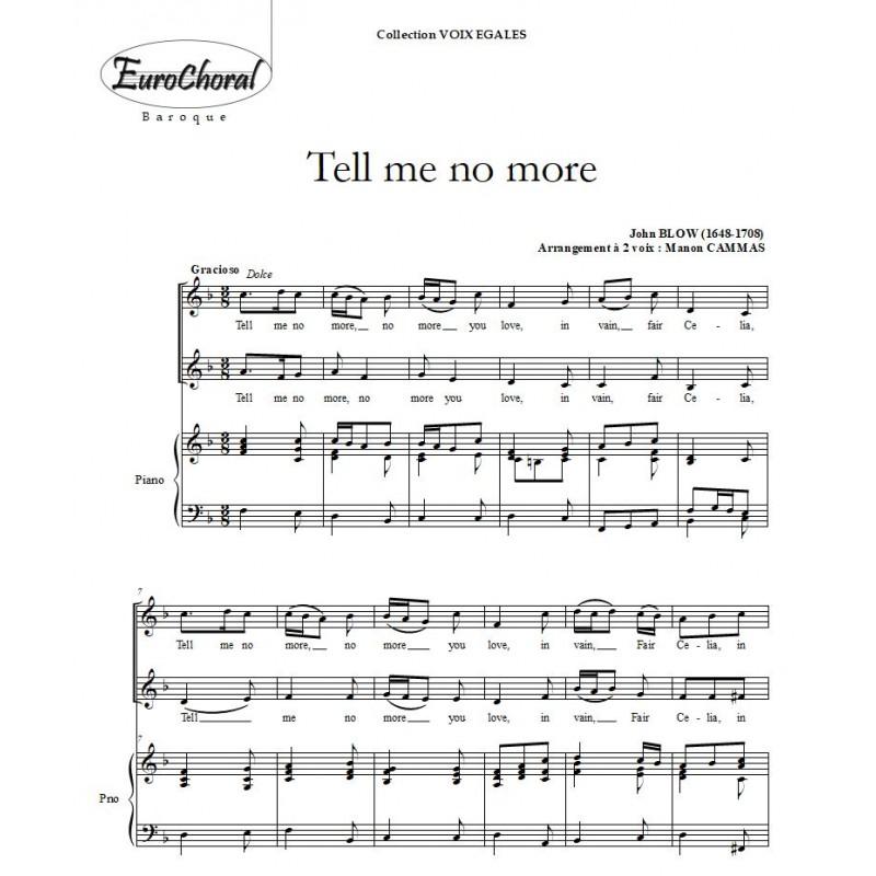 TELL ME NO MORE (J.Blow)