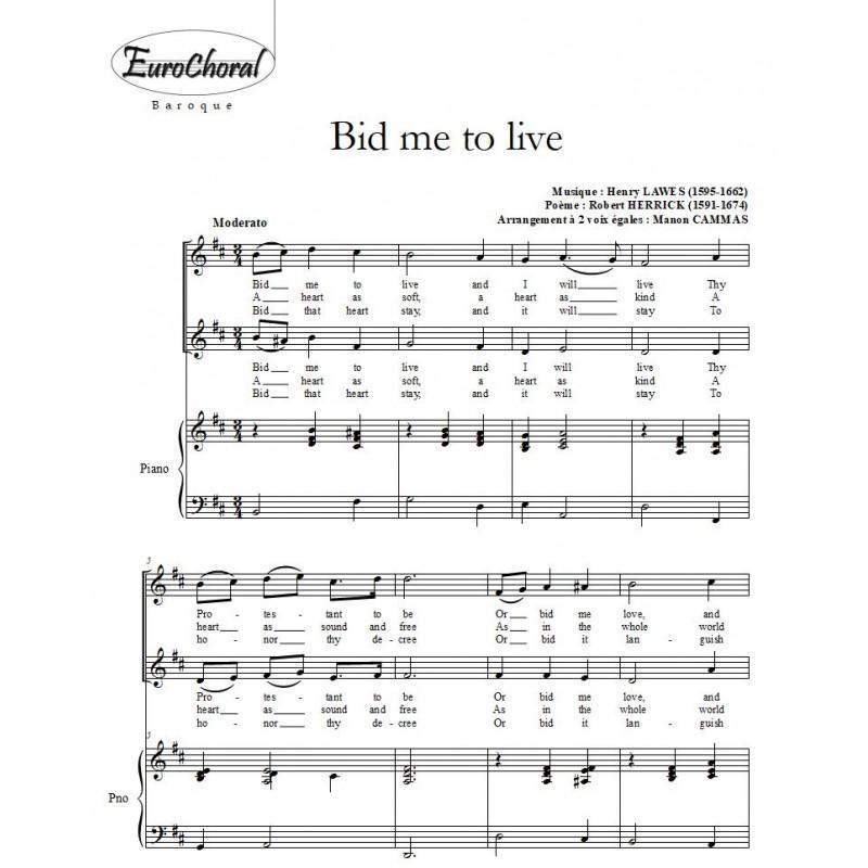 BID ME TO LIVE (H.Lawes)