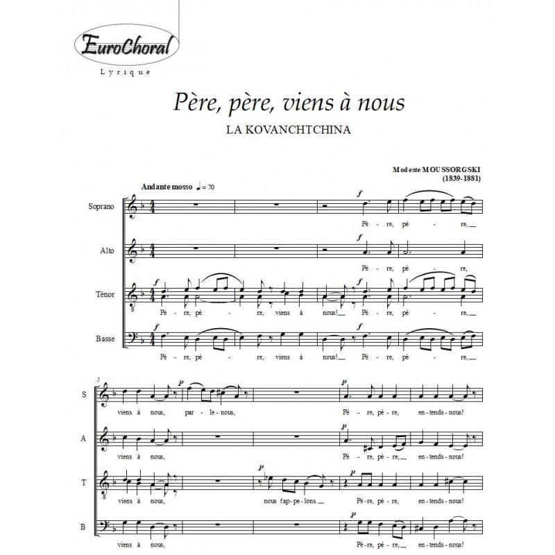 PERE, PERE VIENS A NOUS (M. Moussorgski)