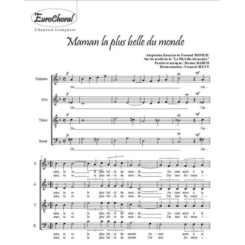 MAMAN LA PLUS BELLE DU MONDE (L.Mariano)