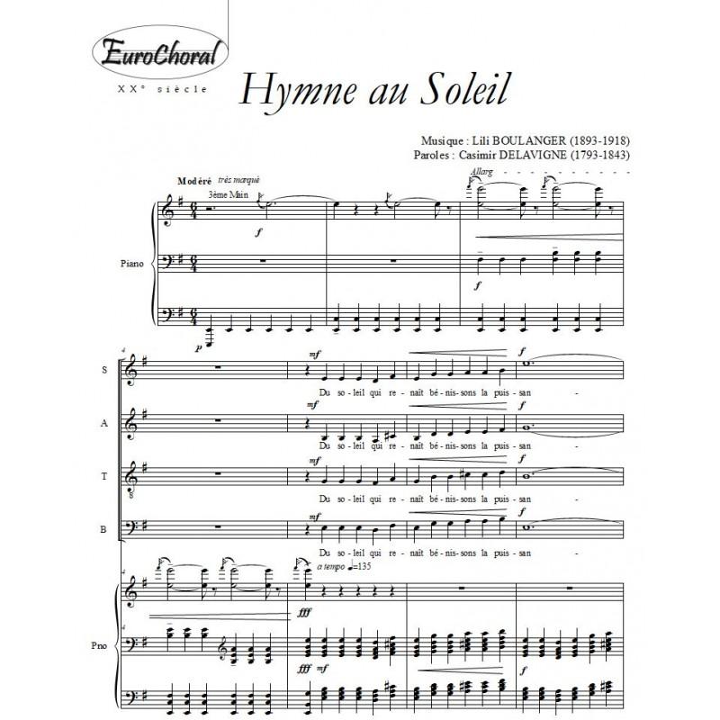 HYMNE AU SOLEIL  (L.Boulanger)
