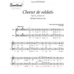 CHOEUR DE SOLDATS (A.E.M Grétry)