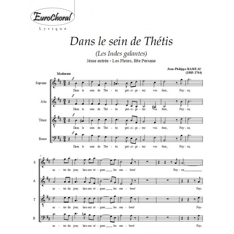 DANS LE SEIN DE THETHIS (Chœur)