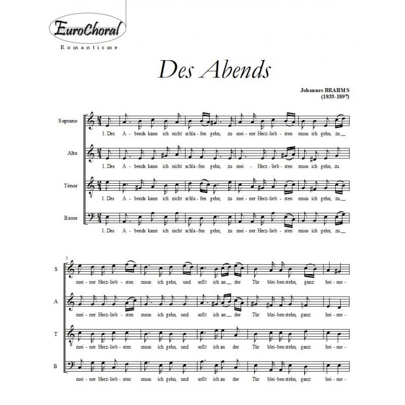 DES ABENDS (J.Brahms)
