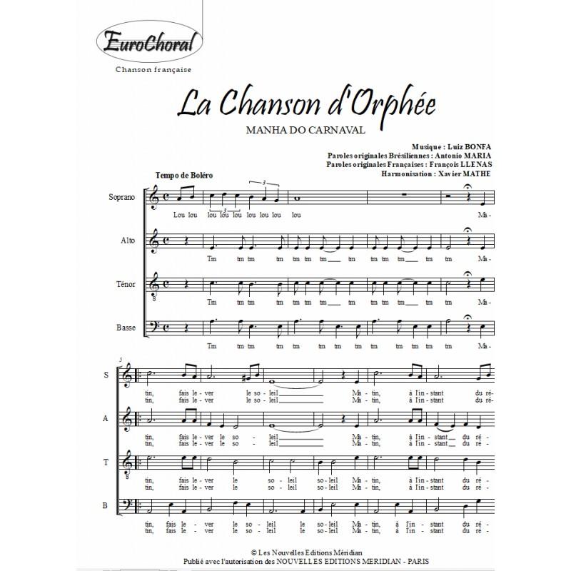 CHANSON D'ORPHÉE (LA) (MANHA DO CARNAVAL)