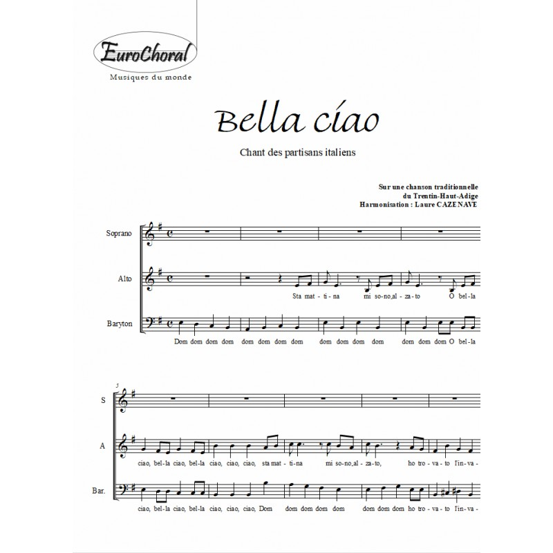 BELLA CIAO (chant des partisans italiens)