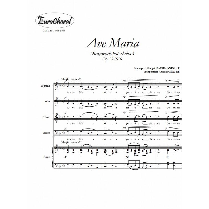 AVE MARIA (Bogorodyitsé dyévo Op.37 N°6)