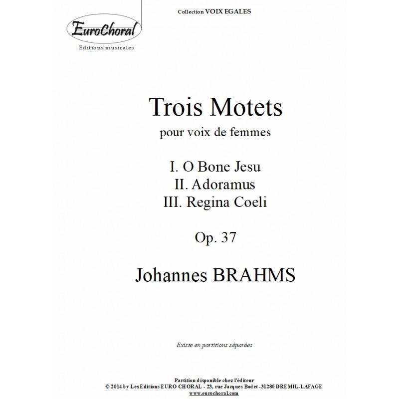 TROIS MOTETS POUR VOIX DE FEMME